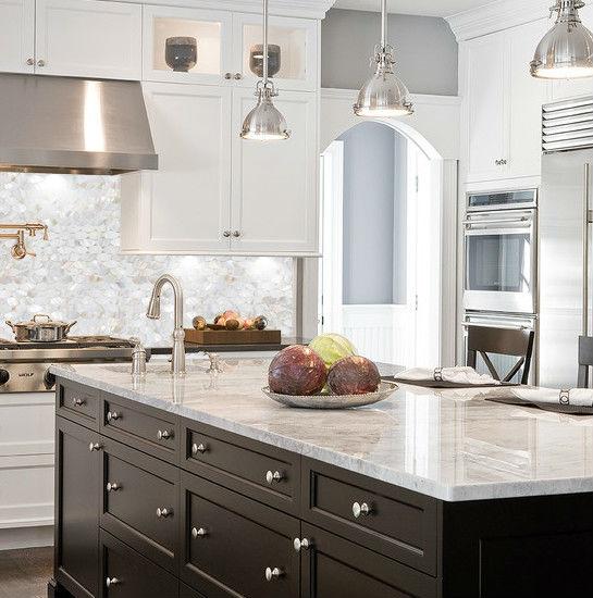 ... Mother Of Pearl Tile Backsplash Kitchen Designs Shell Tiles Wall Mirror  Natural Seashell Mosaic Art ST067 ...