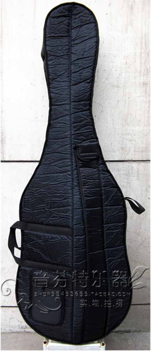3/4 Bass qin package soft bag double bass bag compound oxford fabric sponge niko black 21 23 26 ukulele bag silver edge nylon soprano concert tenor soft case gig bag 5mm thick sponge