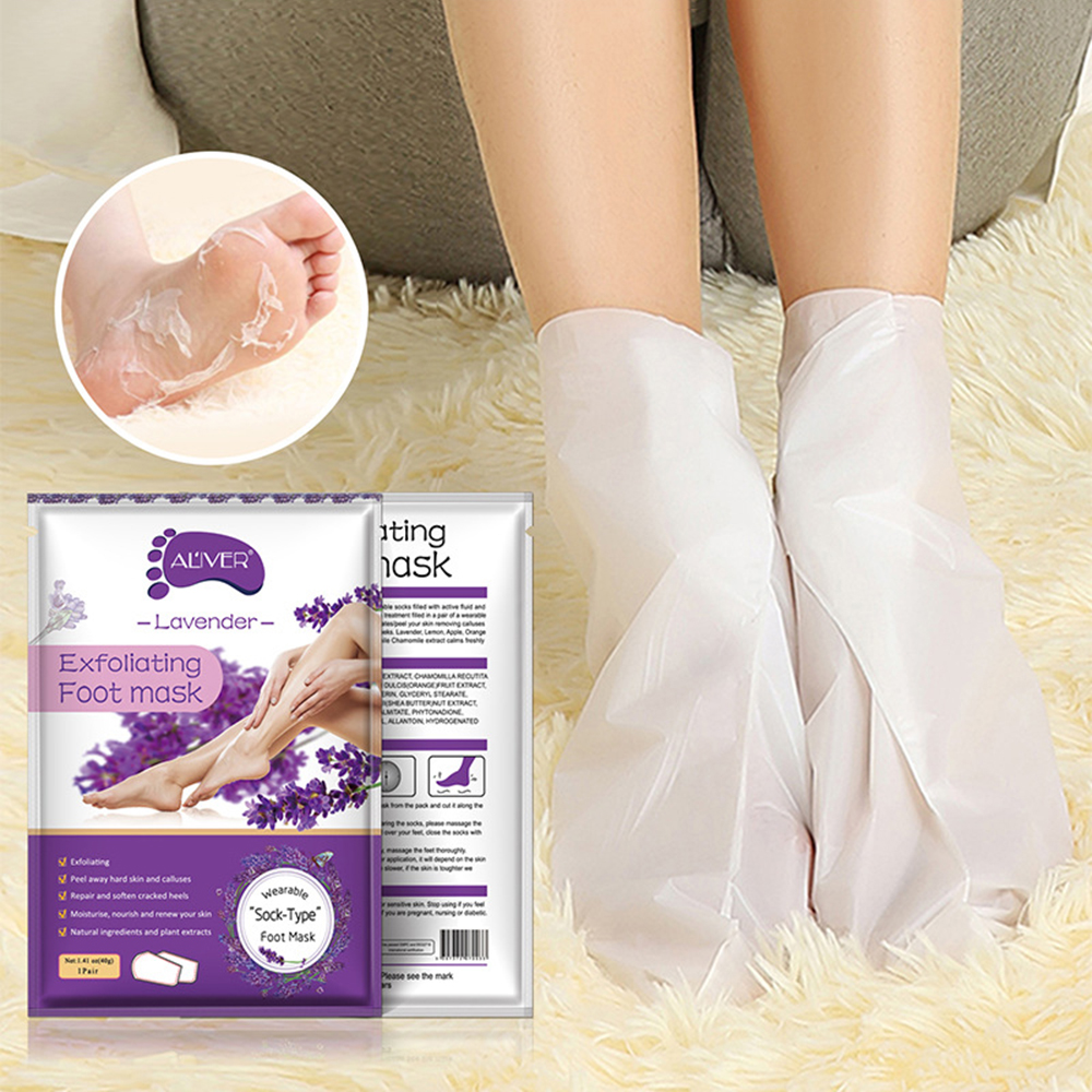 2pcs/bag Lavender Moisturizing Foot Mask Foot Film Exfoliation White Remove Dead Skin Mask Foot Care Tool Rose Chamomile TSLM2