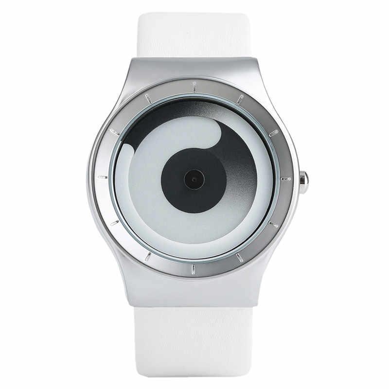 Модные роскошные часы минималистичный стиль цвет спиральный поворотный стол новые стильные наручные часы фанаты Geek подарок Мужские Женские часы Relogio