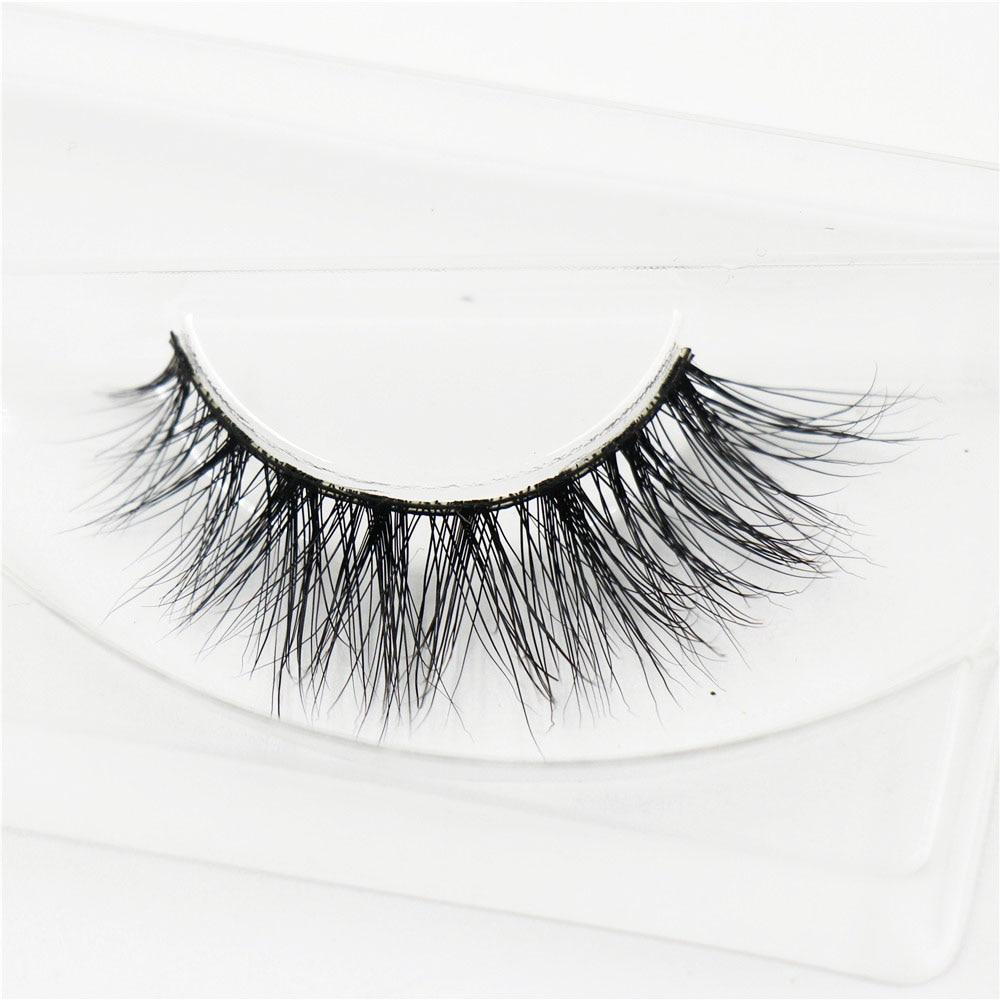 AMAOLASH 3D Mink řasy Dlouhotrvající dramatická oční lazula Přírodní a lehká falešné řasy 1 pár Glitter Balení A04