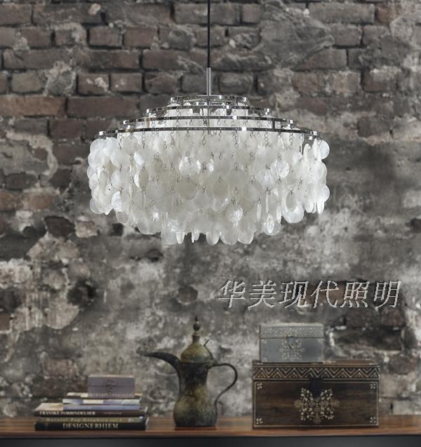 Modern chandeliers white capiz shell lampshade lustres pendant lamps modern chandeliers white capiz shell lampshade lustres pendant lamps living room hanging lamp light fixtures e27 dia70cm in pendant lights from lights aloadofball Gallery