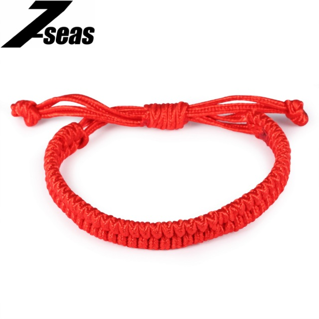 New Arrival Fashion Uni Stretch Knot Red String Handmade Braided Rope Bracelets Men Women Woven Charm