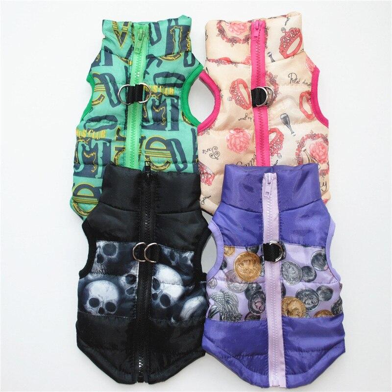 Одежда для домашних животных, жилет для щенков, теплая одежда для маленьких собак, зимние ветрозащитные куртки для собак, стеганая одежда Чихуахуа 20-2