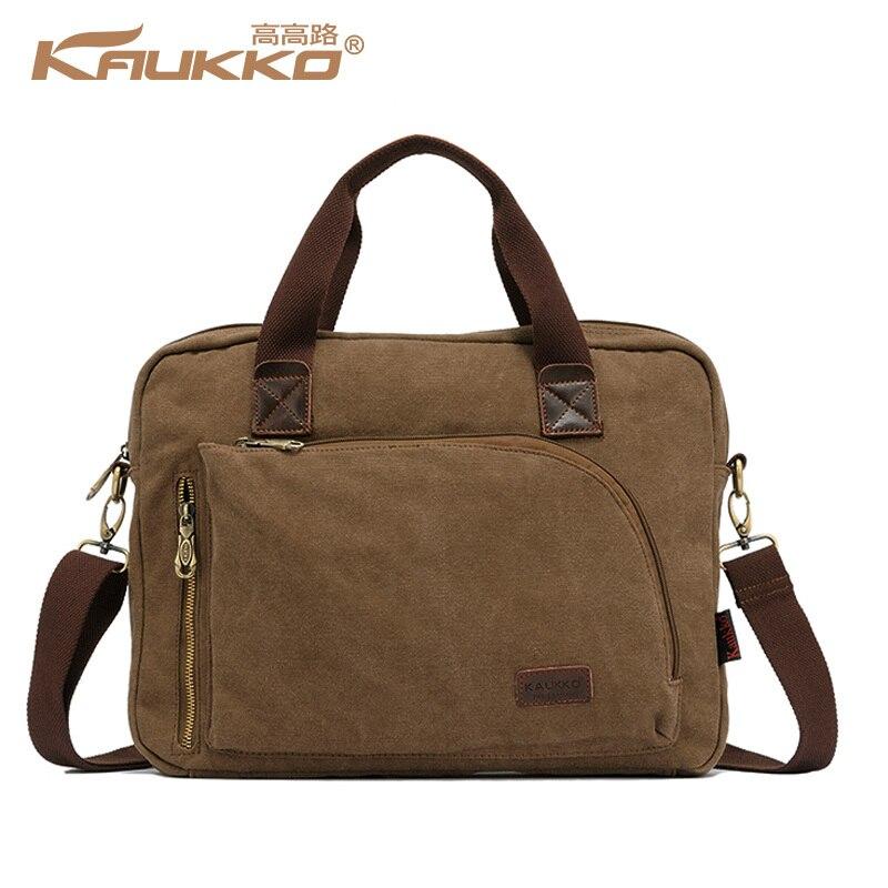 Kaukko Cotton Canvas Handbag Cross Body Messenger Shoulder Handbag Briefcase Bag School Handbag for Men Women Free Shipping kaukko fp84