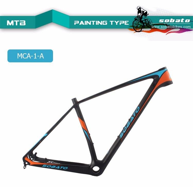 SOBATO 29er углерода красный/зеленый/оранжевый живопись MTB велосипеда Рамки Маутейн Велосипедный Спорт FM056 BB30 UD матовый 17/18. 5/20