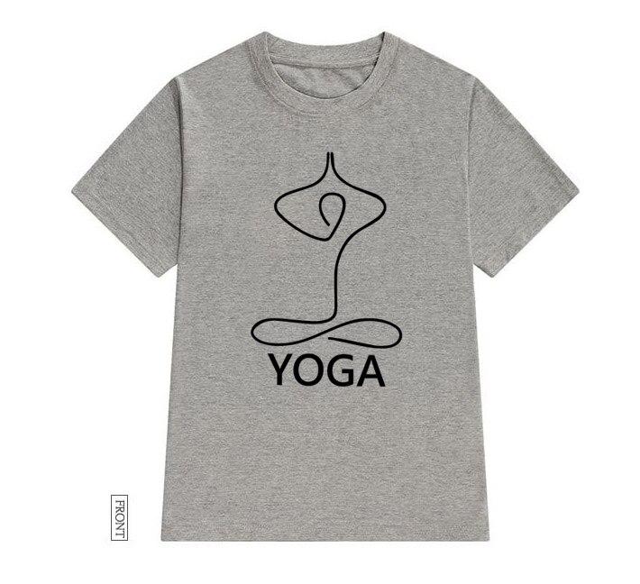@1  Простая йога Женщины футболка Хлопок Повседневная Смешная футболка Lady Yong Girl Top Tee 5 Цветов К ★