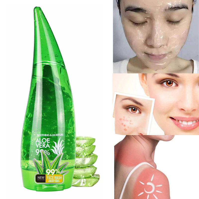 99% Aloe Vera Gel Face Skin Care Cream Moisturizer Anti Wrinkle Acne Scar Treatment Multifunctional Face Mask Body Lotion 120ml
