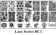 1PC 6*12cm DIY Nail Art Image Stamp Stamping Plates Crown Dappled Floral Pattern Manicure Template Lace Series BC1