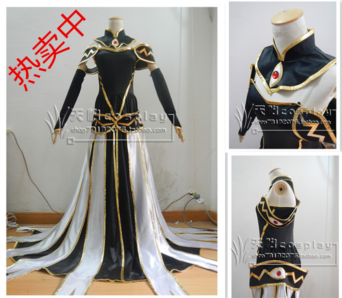 2016 Euphemia Gown [Code Geass] Custom size cosplay costume Cc queen cosplay clothes