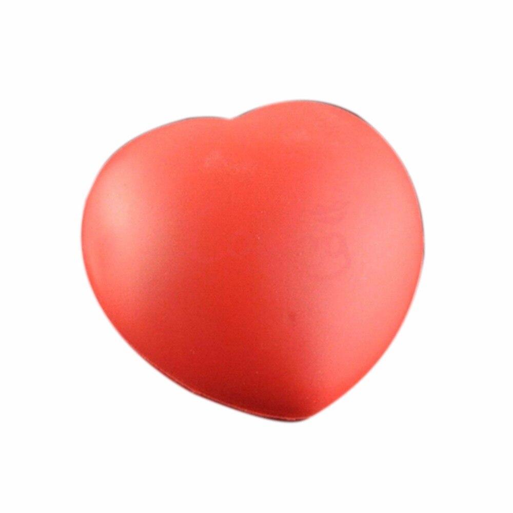 1pc 7cm Kawaii Squishy Heart Shaped Funny Soft Foam Ball Stress Relief Squeeze Hand Wrist Soft Foam Vent Balls Toys & Hobbies