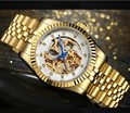 38 мм Sangdo роскошные часы llow из автоматического самовсасывающего механизма механические часы с покрытием 18K Золото Цвет Мужские часы SD054S