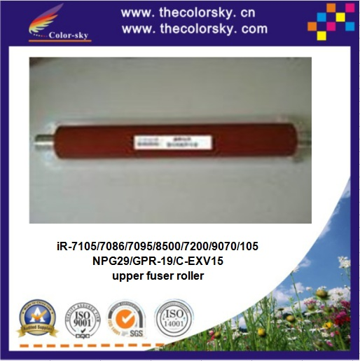 (RD-FR7086F) heating upper fuser roller for canon iR 7105 7086 7095 8500 7200 9070 105 ir-7200 ir-9070 ir-105 FB5 6930 000 red free shipping compatible new upper fuser roller for canon ir c5800 c6800 c5870 c6870