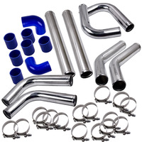64mm 8PCS Universal Turbo charger Front Intercooler Pipe Silicone Hose Clamp kit