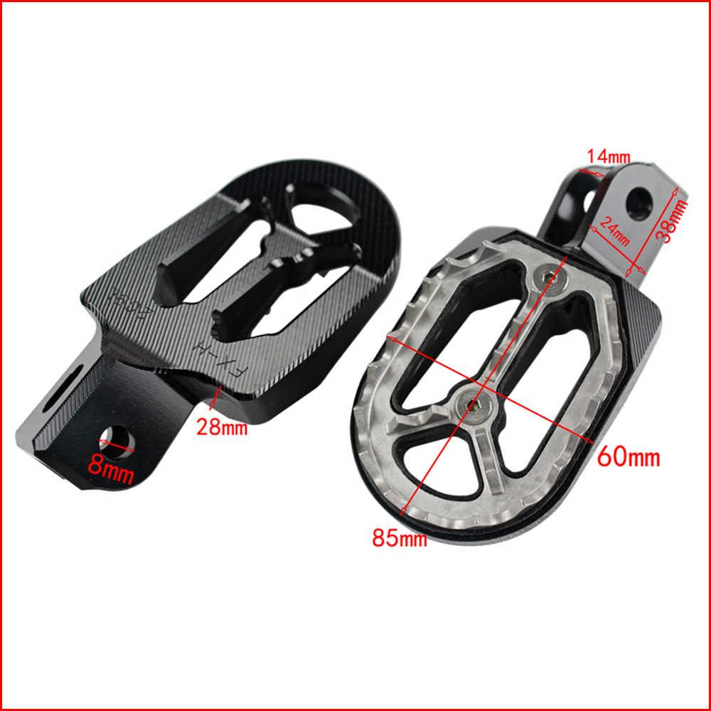 NiceCNC Wide Foot Pegs Footrests For Honda CRF 230 F CRF230F 2003-2017 Black
