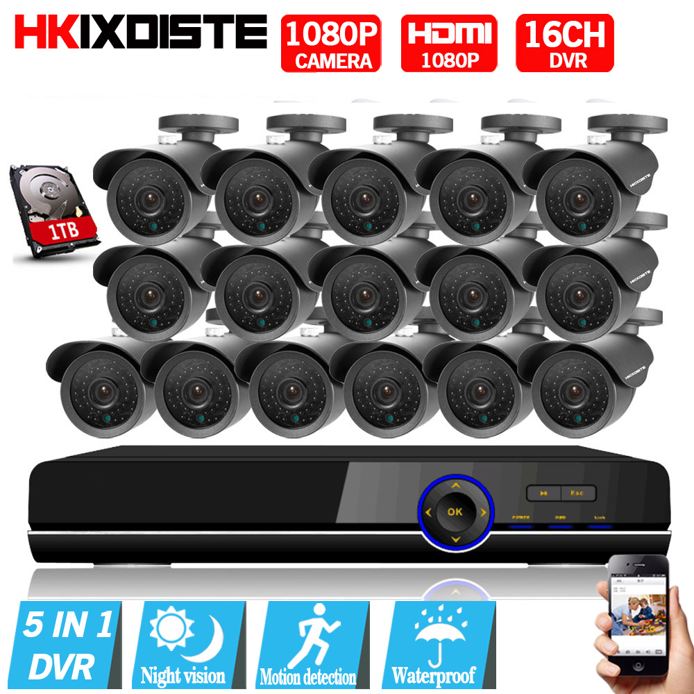 16CH AHD 1080P CCTV DVR Kit 3000tvl 1080P security surveillance Camera system 16 channel HDMI 1080P CCTV System Motion Detection new original 516 300 s242 s4 d warranty for two year