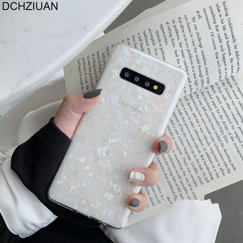 DCHZIUAN Fashion Conch Shell Shine Phone Case For Samsung Galaxy Note 10 S10 Plus S8 S9 Plus Note 8 9 Cover Soft Silicone Cases