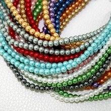 5b5e4b38d579 100 unids 4mm vidrio Cuentas redondo espaciador suelto perlas de plástico  Cuentas para la joyería que hace collar de pulsera DIY.