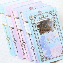 36 pcs/1 set Q-LIA Scrapbooking Stickers Alice Prologue Bronzing kawaii planner fairy tale stickers Cute Korean Stationery(China)