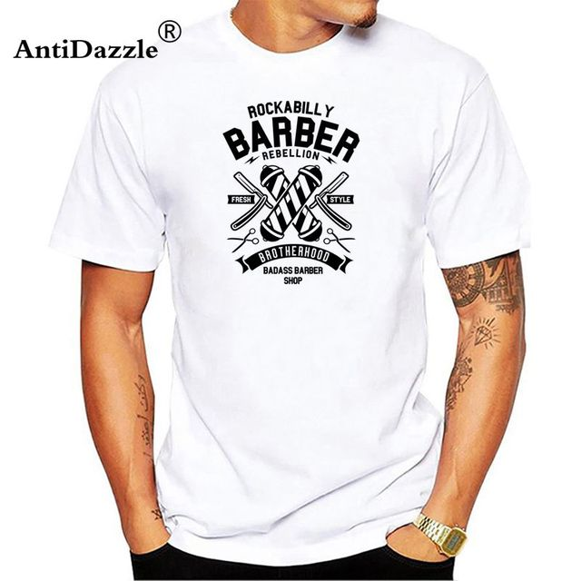 Friseur Barber Rockabilly Biker Retro Barbershop 1345 T Shirt Men