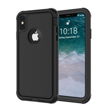 For iPhone X XS Shockproof case life Water Dirt Snow Proof Protection for 5.8 inch With Touch  ID Case Cover