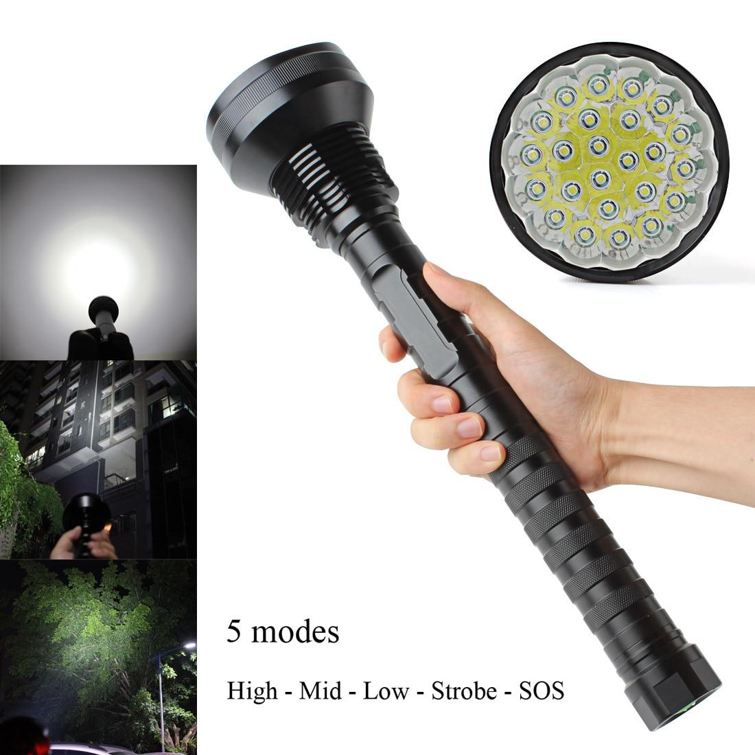 Lampe de poche LED nouveau CREE XML-T6 21/24 LED 32000 LM haute puissance éblouissement T6 torche LED projecteur lumière d'accent lampe de Camping