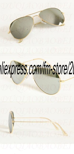 The new gold reflective glass lenses 5PCS box man / woman sunglasses (58 mm), free shipping label and case, come on!