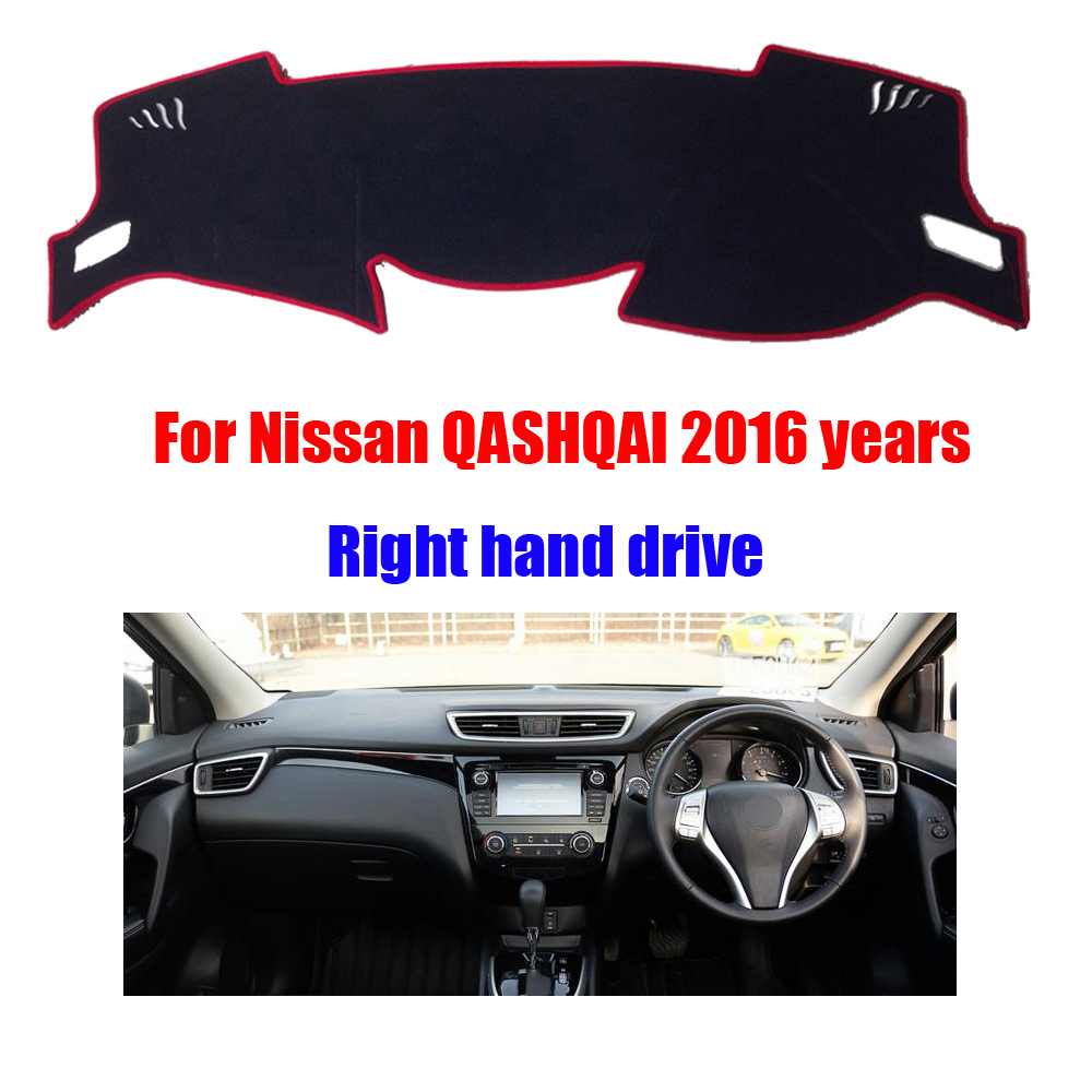 Floor mats qashqai - Car Dashboard Cover Mat For Nissan Qashqai 2016 Years Right Hand Drive Dashmat Pad Dash Covers