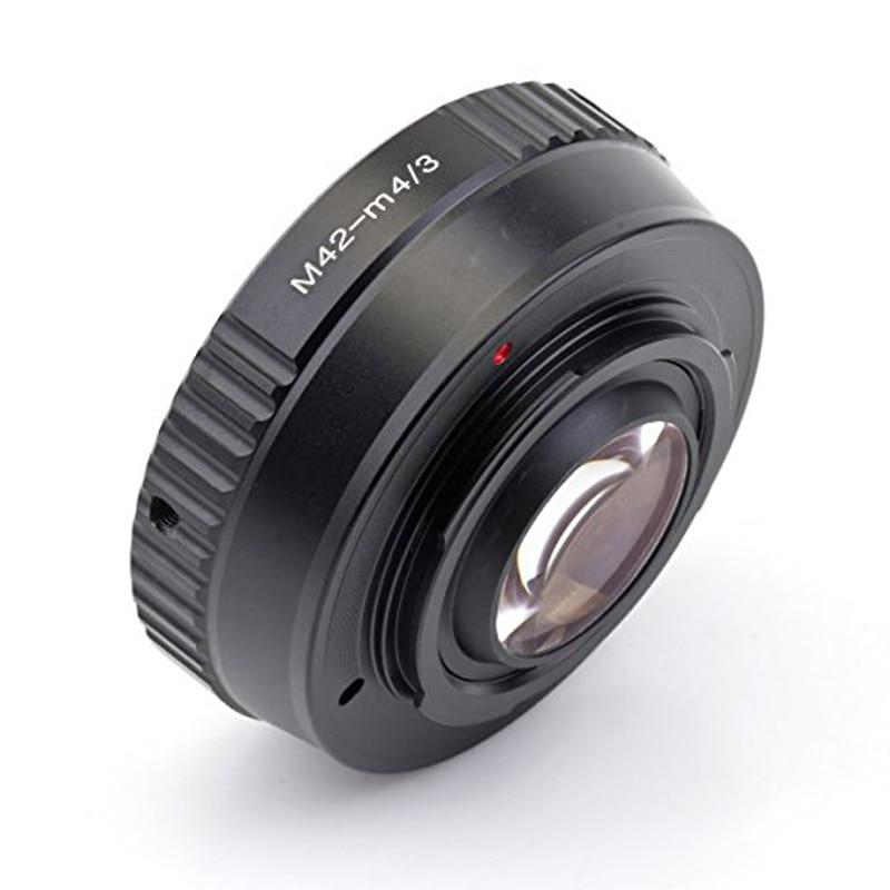 Focal Reducer Speed Booster Turbo Lens Adapter For M42 Mount Lens To Camera M4/3 Mft GH4 GF6 GX1 GX7 E-M5 E-M1 E-PL5 E-P3 BMPCC