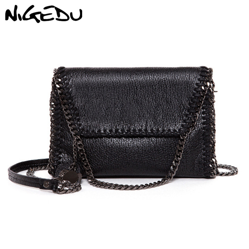 NIGEDU Fashion tassel clutch bag brand chain women messenger bag female Shoulder bag black luxury evening bags bolsas Clutches стоимость
