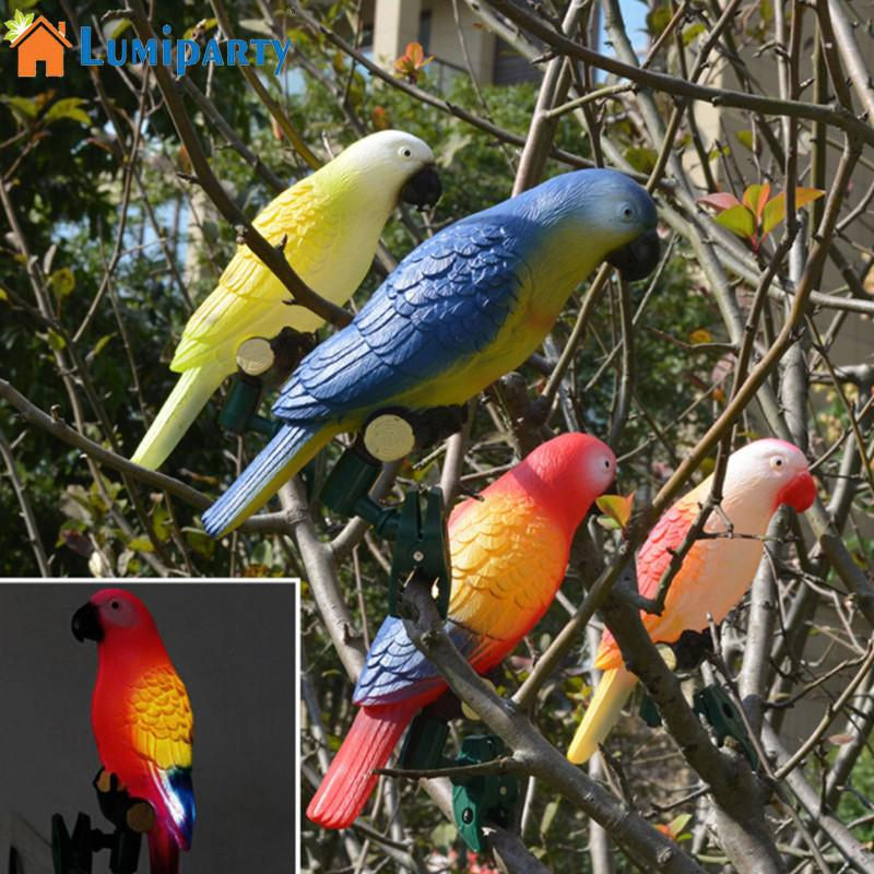 все цены на 4pcs Solar Power LED Light Bird Parrot Lamp With Clip Night Lights for Outdoor Garden Path Ornament онлайн
