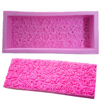 Rose Toast Mold Handmade Soap Silicone Mould Chocolate Candy DIY Fondant Mold Polymer Clay Fimo Molds