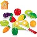 Minitudou toys para niños 12 unids fruit & vegdtable pretend play conjunto de corte de alimentos cocina kids toys