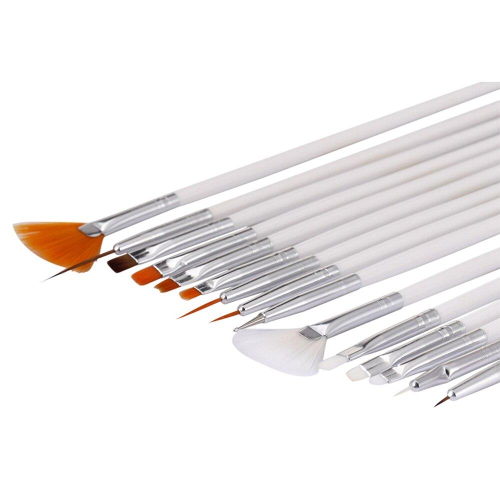 Professional Nails Art Brush For Natural False 3D Beauty Manicure Brush 15Pcs/set Nail Polish Painting Draw Pen Brush DIY Tools
