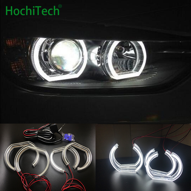 Ultra bright for <font><b>BMW</b></font> <font><b>7</b></font> <font><b>Series</b></font> <font><b>E38</b></font> 1994-2001 High Quality DTM Style White Crystal LED angel eyes Daytime running light DRL image