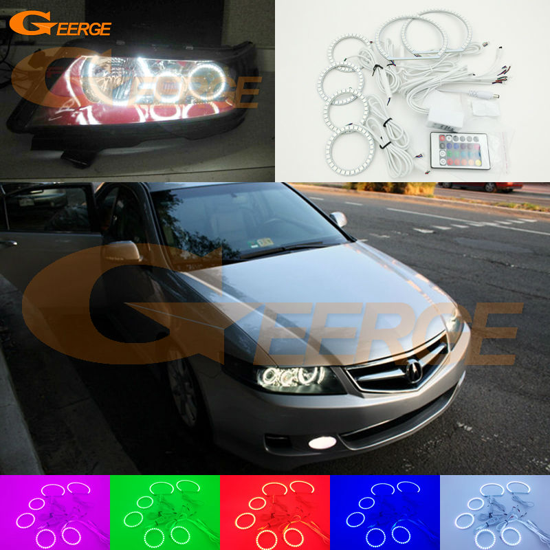 все цены на For ACURA TSX CL9 2004 2005 2006 2007 2008 Excellent Multi-Color Ultra bright RGB LED Angel Eyes kit Halo Rings онлайн