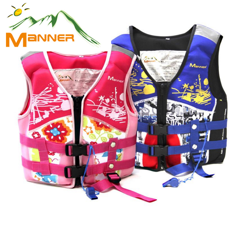MANNER Water Sports Life Vest For Kids Children Swimming Life Jacket With Whistle Boys And Girls Child Diving Safety Equipment