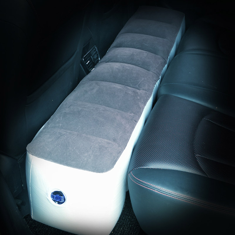 Inflatable Car Travel Bed Mattress and Air Pump for Auto Seat Interior Accessories Back Seat Gap Pad Air bed Cushion Outdoor Kid