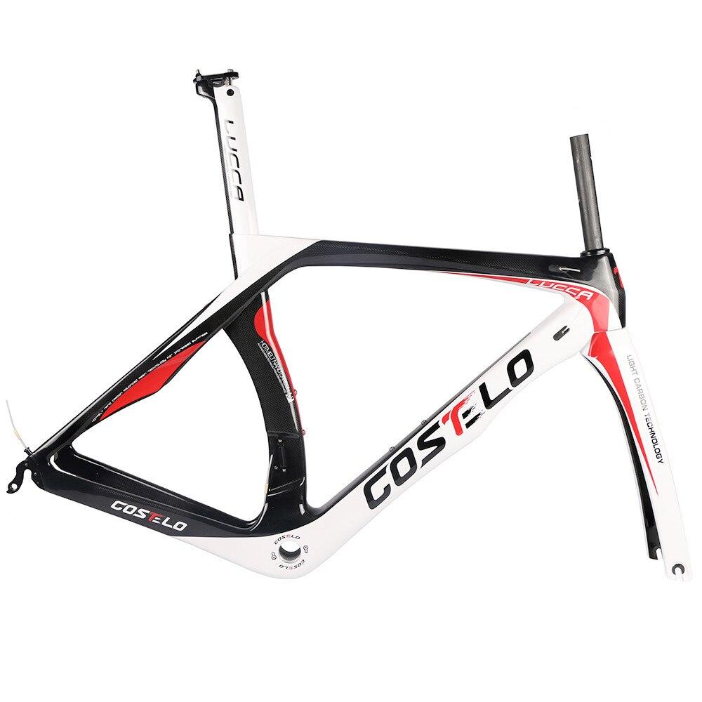 Costelo lucca карбоновая рама для шоссейного велосипеда costole велосипедная Рама Bicicleta полный T1000 карбоновая рама bb30