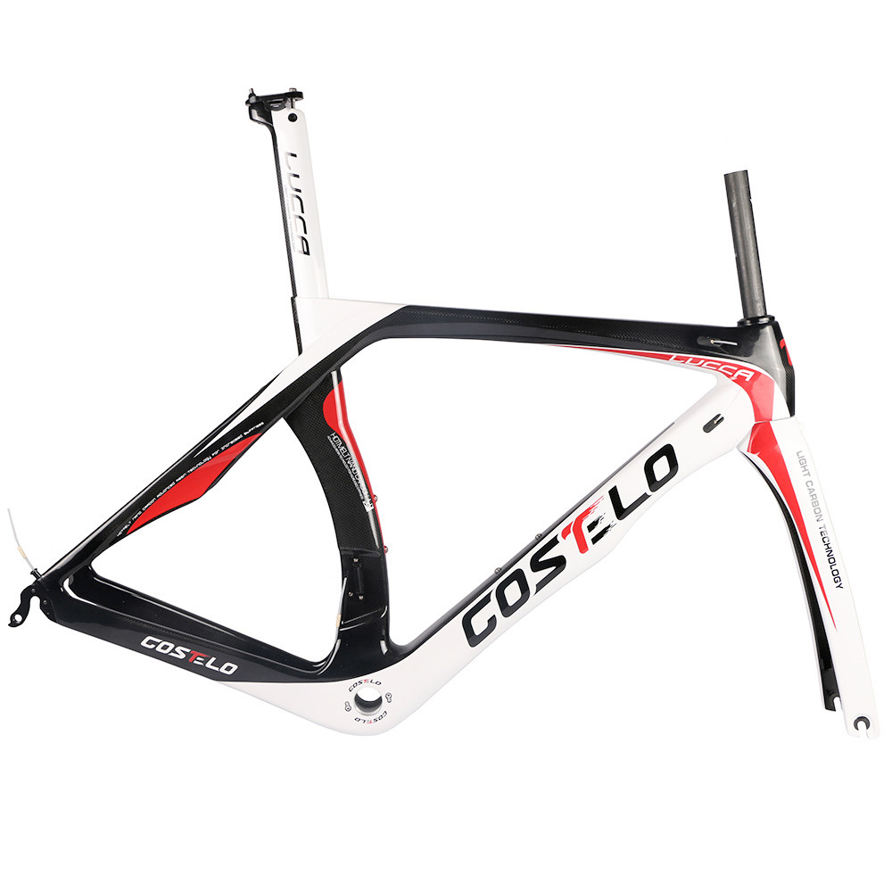 Costelo Lucca  Carbon Road Bike Frameset Costole Bicycle Bicicleta Frame Full T1000 Carbon Fiber Bicycle Frame Bb30
