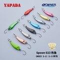 YAPADA Spoon 023 Hot Fish 2g 3g 5g OWNER Single Hook 28-32-40mmMulticolor Zinc alloy Metal Small Spoon Fishing Lures
