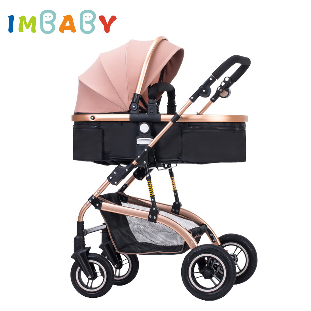 IMBABY Luxury High Landscape Baby Stroller Folding Baby Carriages Warm Baby Prams For Newborns Kids Baby Carriages For Winter super light luxury baby stroller high landscape folding baby car shockproof portable prams and pushchairs for newborns 4 2kg