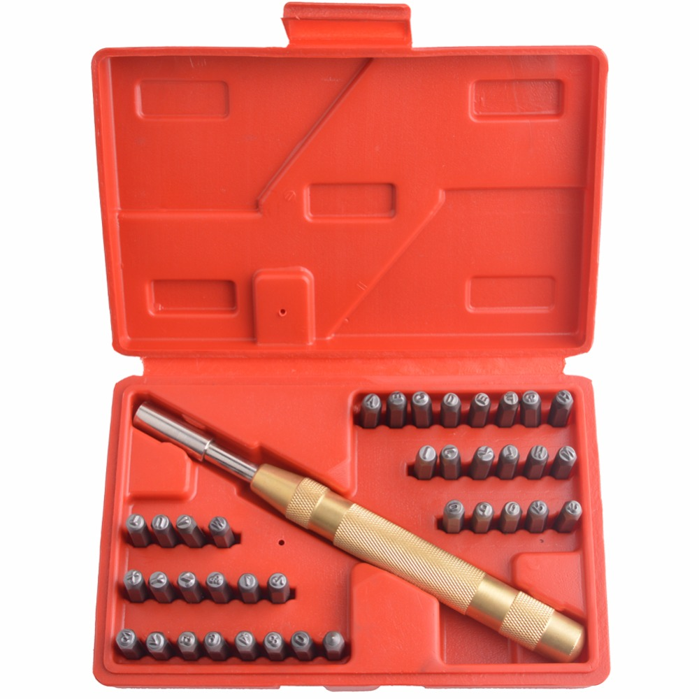 5/32(4mm) 38-Piece Letters and Numbers Stamping Punch Set class numbers quadratic and cyclotomic fields
