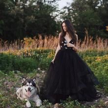 Gothic Puffy Black Organza With Tulle Bridal Skirts Custom Made Tutu Skirts To Christmas Party Ruffles Maxi waist Skirt