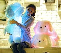 50cm Beleuchtung plüsch Plüsch hunde leucht Gefüllte Plüsch Licht Spielzeug Glow Beleuchtet Kissen licht Welpen Hund