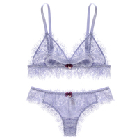 Sexy Mousse Luxury Soft Eyelash Lace Bras Comfort Minimizer Summer Thin Lingerie Underwear Wirefree Cup S