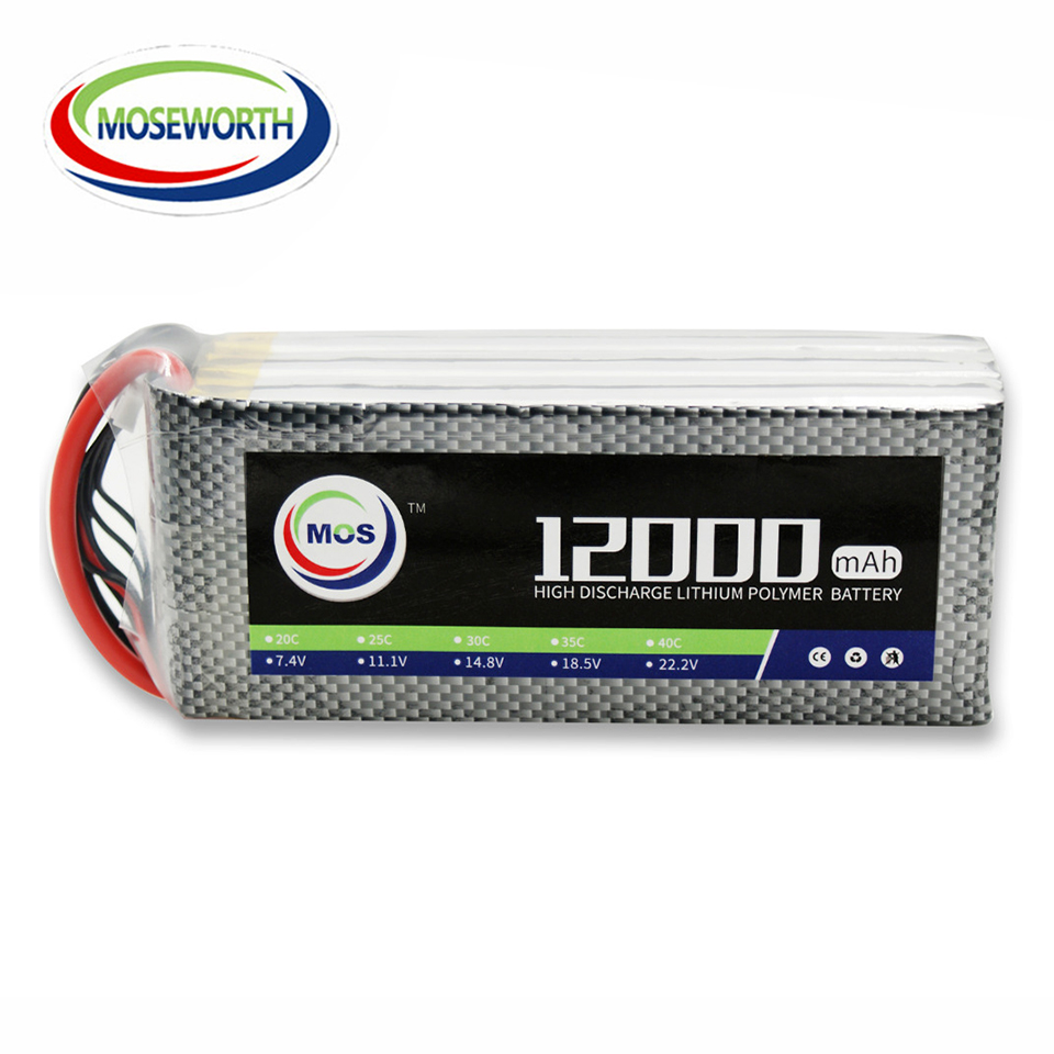 Battery Lipo 4S 14.8V 12000mAh 25C For RC Drone Helicopter Car Boat Quadcopter Airplane Model Remote Control Toys Lipo Battery mos rc lipo battery 22 2v 12000mah 25c 6s for airplane drone quadrotor car boat factory outlet free shipping