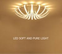 ZYY Simple Creative Circular Ceiling light Lamp White Branch Acrylic novelty lighting With LED bulbs Bedroom Restaurant Lighting