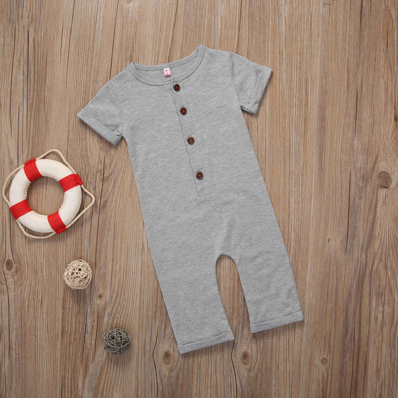 d8e3edb9515 ... Infant Newborn Baby Boy Girl Clothes Romper Playsuit Children Clothing  Summer Outfits Gray Black Boys Girls ...