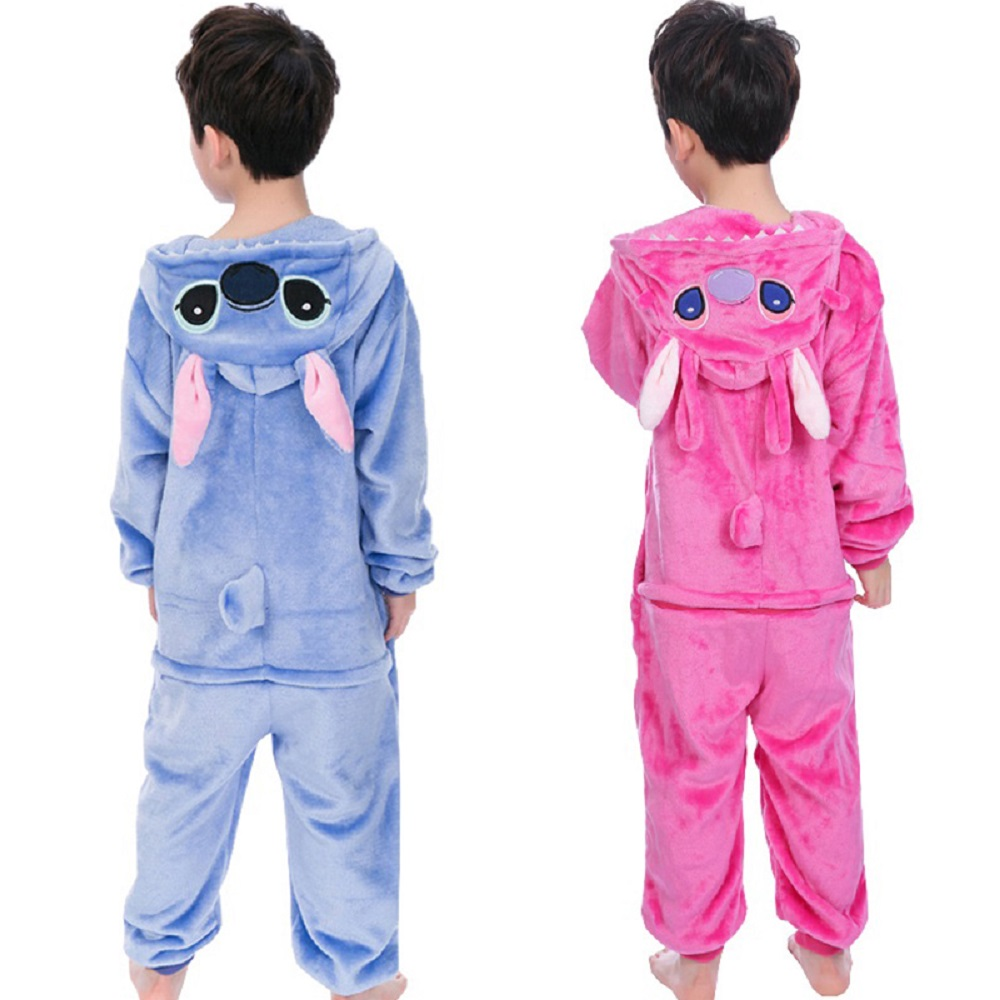 Baby Boys Girls Flannel Animal Stitch Pajamas Winter Hooded Kids Pijamas Children Sleepwear Onesies pyjamas 4 6 8 10 12 YearsBaby Boys Girls Flannel Animal Stitch Pajamas Winter Hooded Kids Pijamas Children Sleepwear Onesies pyjamas 4 6 8 10 12 Years